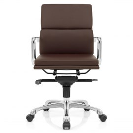 Eames Style 2 Cushion Office Chair Brown
