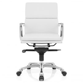 Eames Style 2 Cushion Office Chair White
