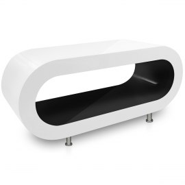 White Orbit Coffee Table Black Inner