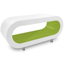 White Orbit Coffee Table Green Inner
