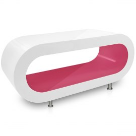 White Orbit Coffee Table Pink Inner