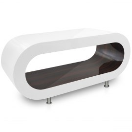 White Orbit Coffee Table Walnut Inner