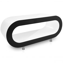 White Orbit Coffee Table Black Edge