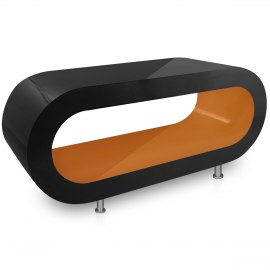 Black Orbit Coffee Table Orange Inner