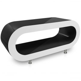 Black Orbit Coffee Table White Edge