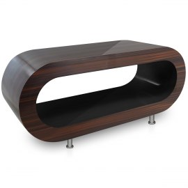Walnut Orbit Coffee Table Black Inner