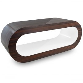 Walnut Orbit Coffee Table White Inner