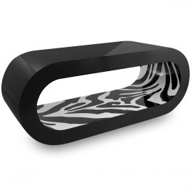Black Orbit Coffee Table Zebra Inner