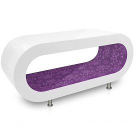 White Orbit Coffee Table Purple Pattern Inner