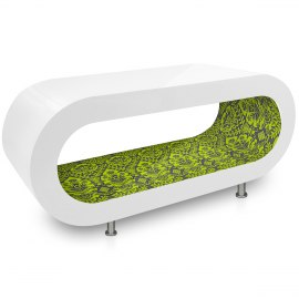 White Orbit Coffee Table Lime Pattern Inner