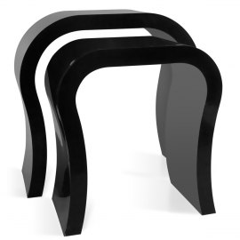 Abs plastic frame coffee tables cosmos nest of tables black watchthetrailerfo