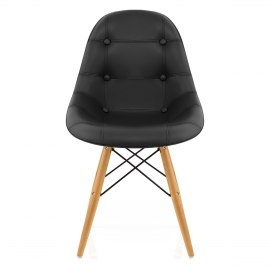 Cushioned Eames Style DSW Chair Black
