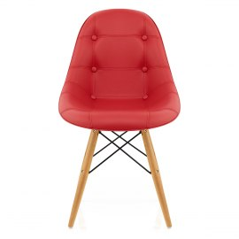 Cushioned Eames Style DSW Chair Red