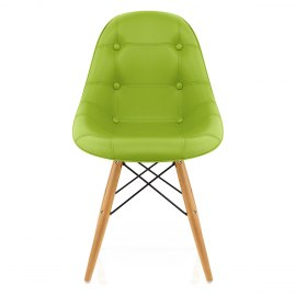 Cushioned Eames Style DSW Chair Green