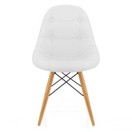 Cushioned Eames Style DSW Chair White