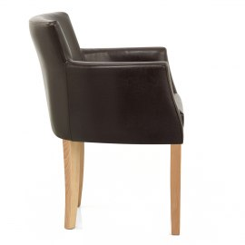 Pedro Oak Dining Chair Brown