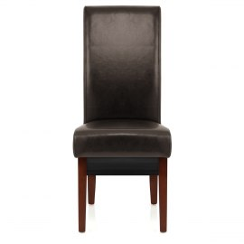 Sale Carlo Walnut Chair Brown Leather