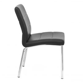 Chrome Breakfast Dining Chair Black