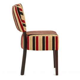 Ramsay Walnut Dining Chair Royal Stripe