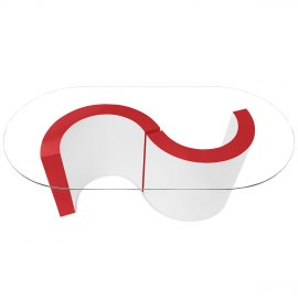 Apollo Coffee Table Red & White