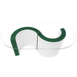 Apollo Coffee Table Green & White