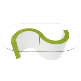 Apollo Coffee Table Lime Green & White