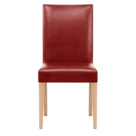 Chicago Oak Dining Chair in Red