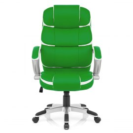 Cadiz Luxury Office Chair Green & White