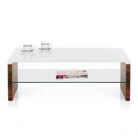 Aztec Coffee Table Walnut & White