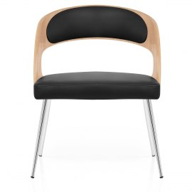 Evans Dining Chair Oak & Black