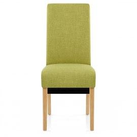 Sale Carlo Oak Chair Green Fabric  sc 1 st  Atlantic Shopping & Green Dining u0026 Kitchen Chairs | Atlantic Shopping