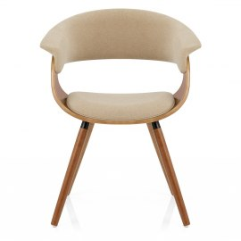 Grafton Dining Chair Walnut & Beige