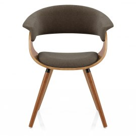 Grafton Dining Chair Walnut & Brown