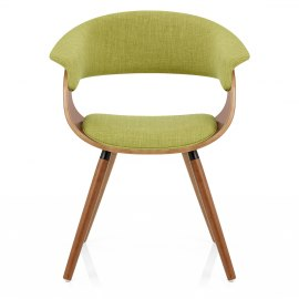 Grafton Dining Chair Walnut & Green
