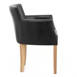 Pedro Oak Dining Chair Black