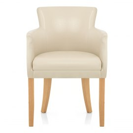 Pedro Oak Dining Chair Cream