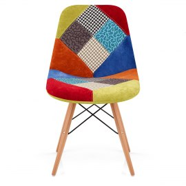 Spectrum Patchwork Eames Style DSW Chair