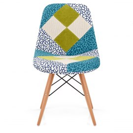 Maritime Patchwork Eames Style DSW Chair