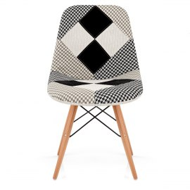 Monochrome Patchwork Eames Style DSW Chair