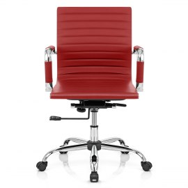 Eames Style Medium Back Office Chair Red