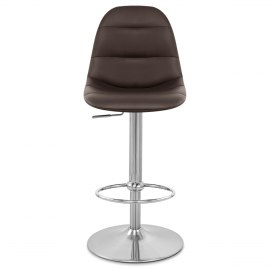Ferrero Brushed Steel Bar Stool Brown