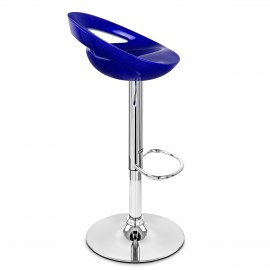 Crescent Bar Stool Blue