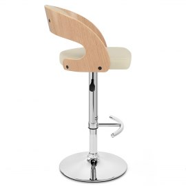 Eve Oak Bar Stool Cream