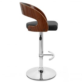 Eve Wooden Bar Stool Black