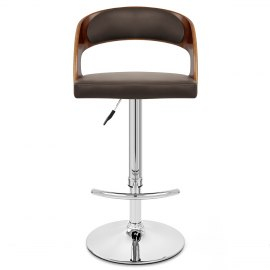 Eve Wooden Bar Stool Brown