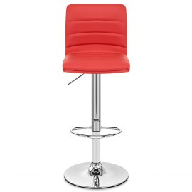 Linear Bar Stool Red