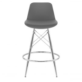Vibe Chrome Stool Grey