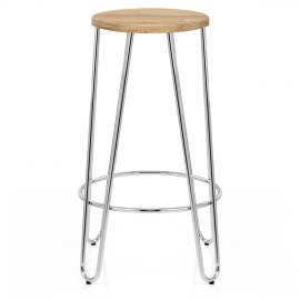 Bobby Chrome Stool
