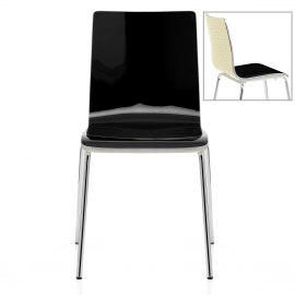 Fresco Dining Chair Black & Cream