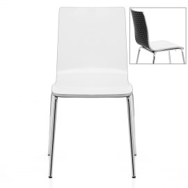 Fresco Dining Chair White & Black